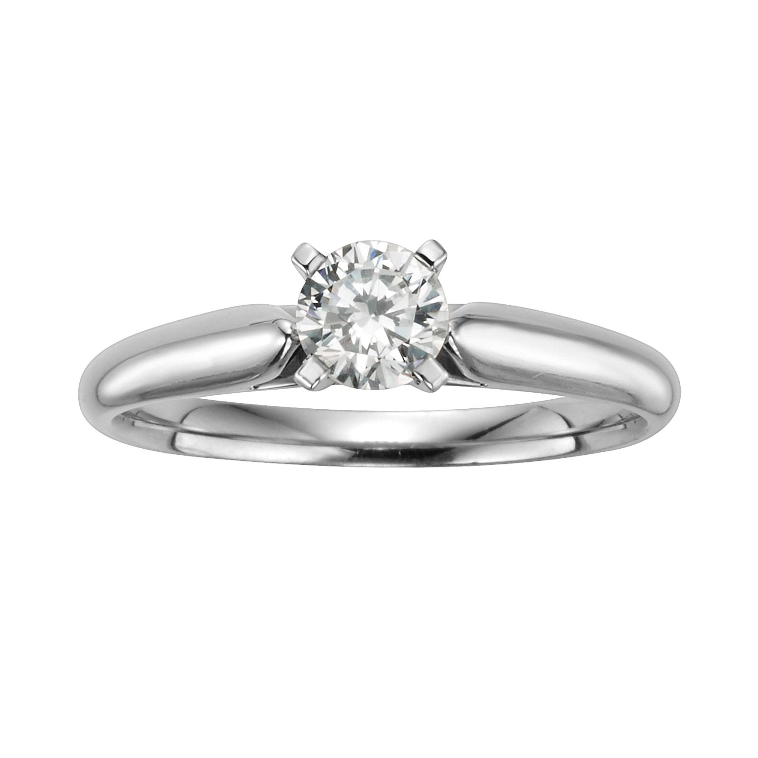 Two Tone Wedding Band 82 Lovely Round Cut IGL Certified