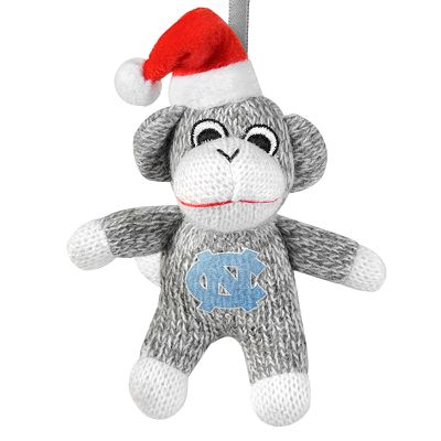 North Carolina Tar Heels Sock Monkey Ornament