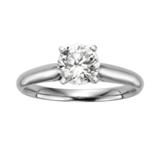 Round-Cut IGL Certified Diamond Solitaire Engagement Ring in 14k White Gold (1 ct. T.W.)