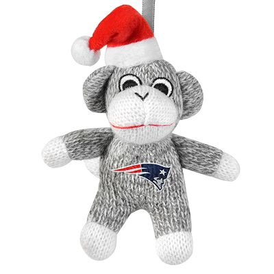 New England Patriots Sock Monkey Ornament