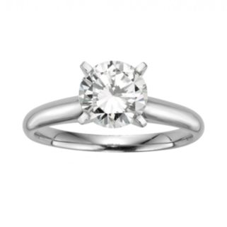 Round-Cut IGL Certified Diamond Solitaire Engagement Ring in 14k White Gold (1 1/2 ct. T.W.)