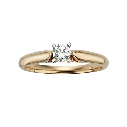 Round-Cut IGL Certified Diamond Solitaire Engagement Ring in 14k Gold (1/4 ct. T.W.)