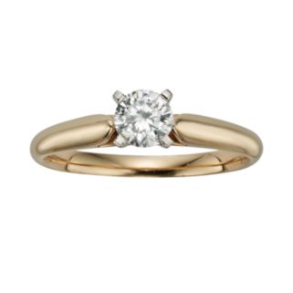 Round-Cut IGL Certified Diamond Solitaire Engagement Ring in 14k Gold (1/2 ct. T.W.)