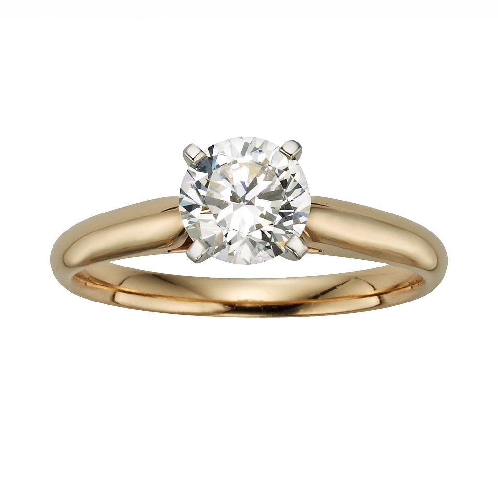 14k Gold 1 Carat T.W. IGL Certified Diamond Solitaire Engagement Ring