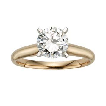 Round-Cut IGL Certified Diamond Solitaire Engagement Ring in 14k Gold (1 1/2 ct. T.W.)
