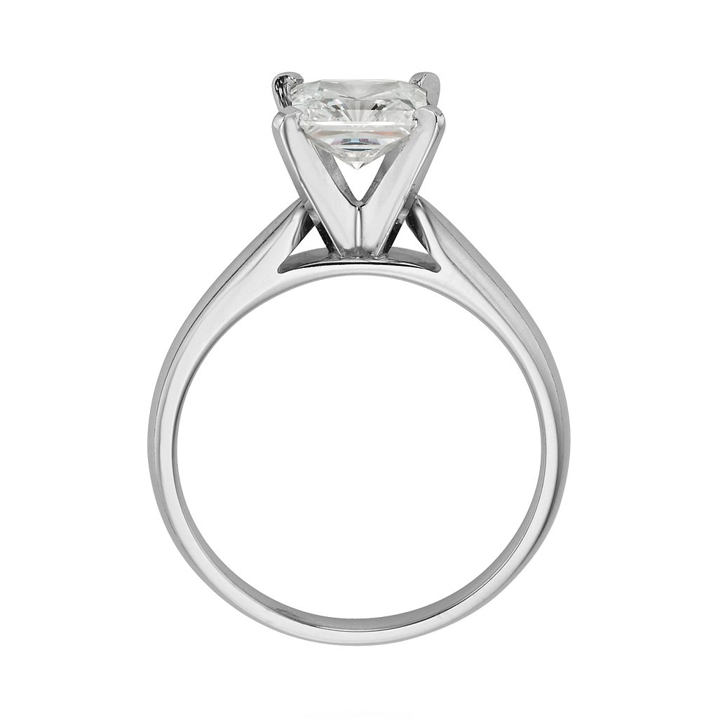 14k White Gold 1 1/2-ct. T.W. IGL Certified Princess-Cut Diamond Solitaire Ring
