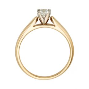 Princess-Cut IGL Certified Diamond Solitaire Engagement Ring in 14k Gold (1/4 ct. T.W.)
