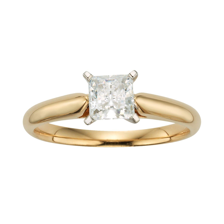 Gold Princess Cut Wedding Rings 46 Inspirational Princess Cut IGL Certified