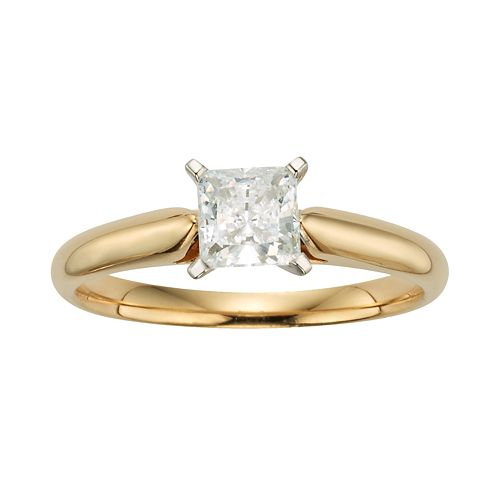 Princess-Cut IGL Certified Diamond Solitaire Engagement Ring in 14k Gold (3/4 ct. T.W.)
