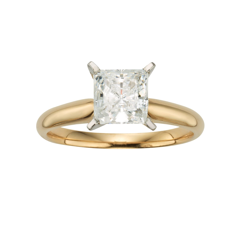Artcarved Wedding Ring 70 Stunning Princess Cut IGL Certified