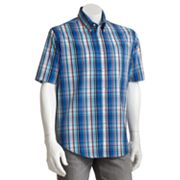 Croft and Barrow Plaid Easy-Care Casual Button-Down Shirt - Big and Tall