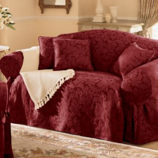 Sure Fit Scroll Damask Chair Slipcover