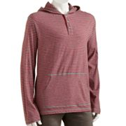 Urban Pipeline Striped Hooded Henley - Men