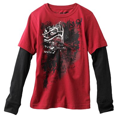 Tony Hawk Messy Mesh Mock-Layer Tee - Boys 8-20