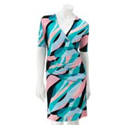Jennifer Lopez Geometric Surplice Dress - Petite