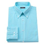 Croft and Barrow Classic-Fit Gingham Easy-Care Button-Down Collar Dress Shirt