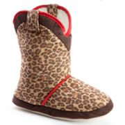 Cicciabella Leopard Boot Slippers