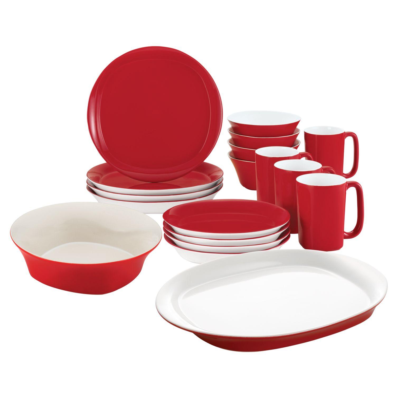 Rachael Ray 18-pc. Dinnerware u0026 Serveware Value Set. Red  sc 1 st  Kohlu0027s & Rachael Ray Dinnerware u0026 Serveware Kitchen u0026 Dining   Kohlu0027s