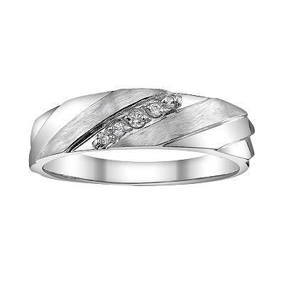 Platina 4 Diamond Accent Band - Men