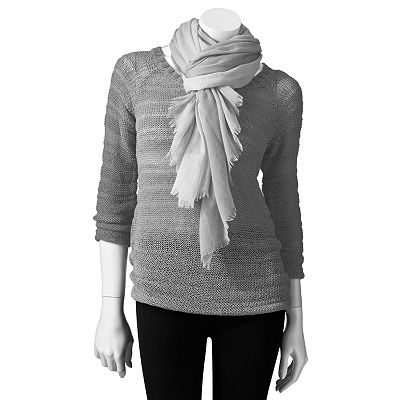 Apt. 9 Tape Yarn Sweater and Scarf Set