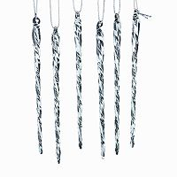 Kurt Adler 24-pc. Glow-In-The-Dark Glass Icicle Ornament Set