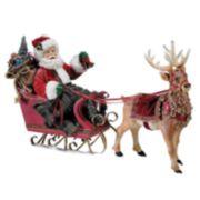 Kurt Adler Santa in Sleigh with Deer