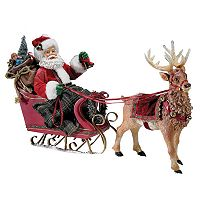 Kurt Adler Santa in Sleigh with Deer