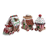 Kurt Adler 3-pc. LED Gingerbread Train Set