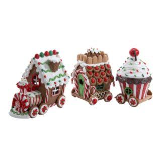 Kurt Adler 3-pc. LED Gingerbread Train Set