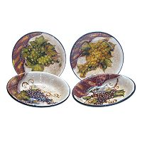 Certified International Wine Cellar 4-pc. Pasta Bowl Set