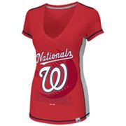 Majestic Washington Nationals Light Up The Stands Tee - Women