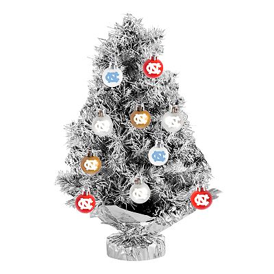North Carolina Tar Heels 17-pc. Tabletop Tinsel Christmas Tree and Ornament Set