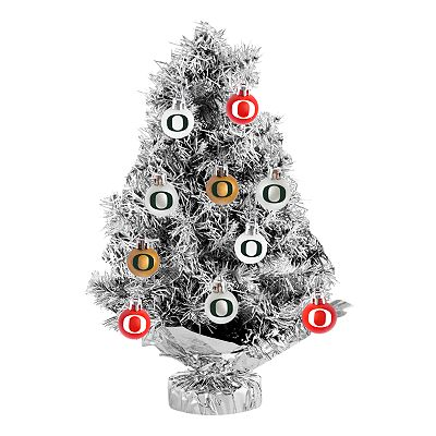 Oregon Ducks 17-pc. Tabletop Tinsel Christmas Tree and Ornament Set