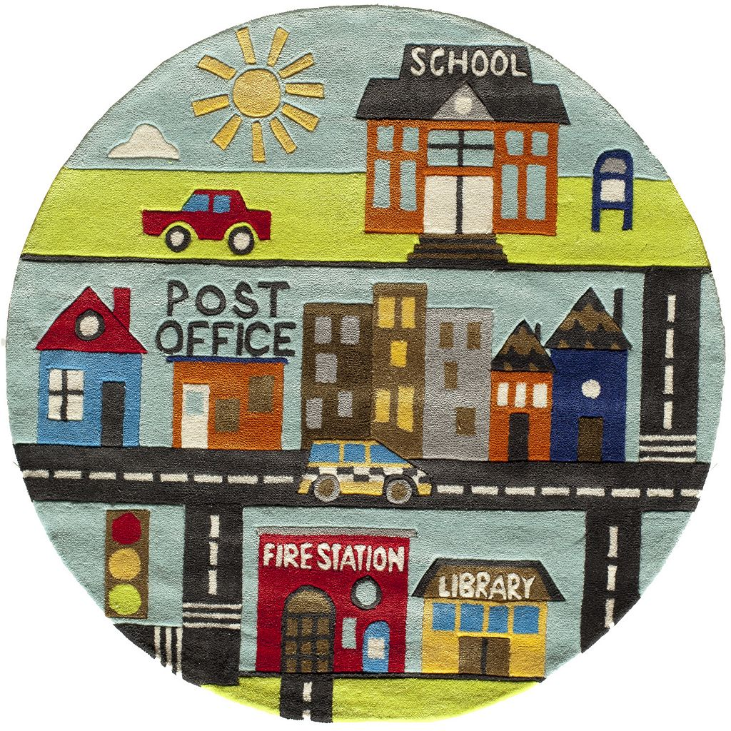 Momeni Lil Mo Whimsy Town Rug - 5' Round
