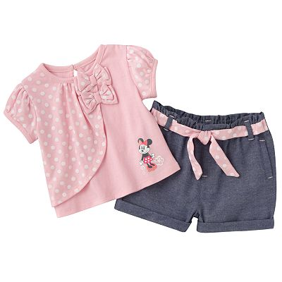 Disney Mickey Mouse and Friends Minnie Mouse Top and Shorts Set - Baby