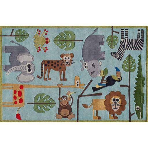 Momeni Lil Mo Whimsy Jungle Animal Rug - 3' x 5'