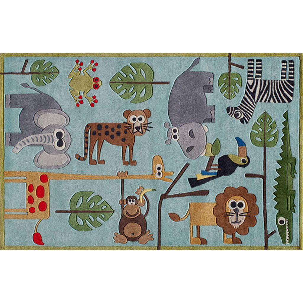 Momeni Lil Mo Whimsy Jungle Animal Rug - 4' x 6'