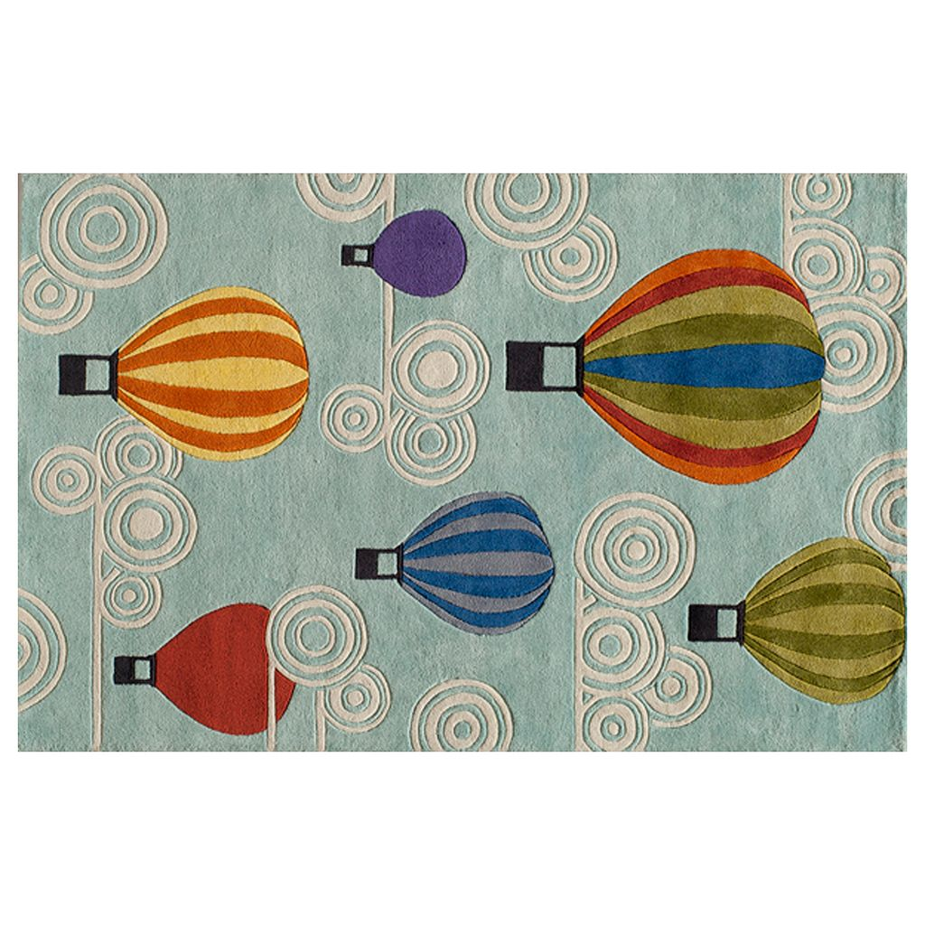 Momeni Lil Mo Whimsy Hot Air Balloon Rug - 2' x 3'