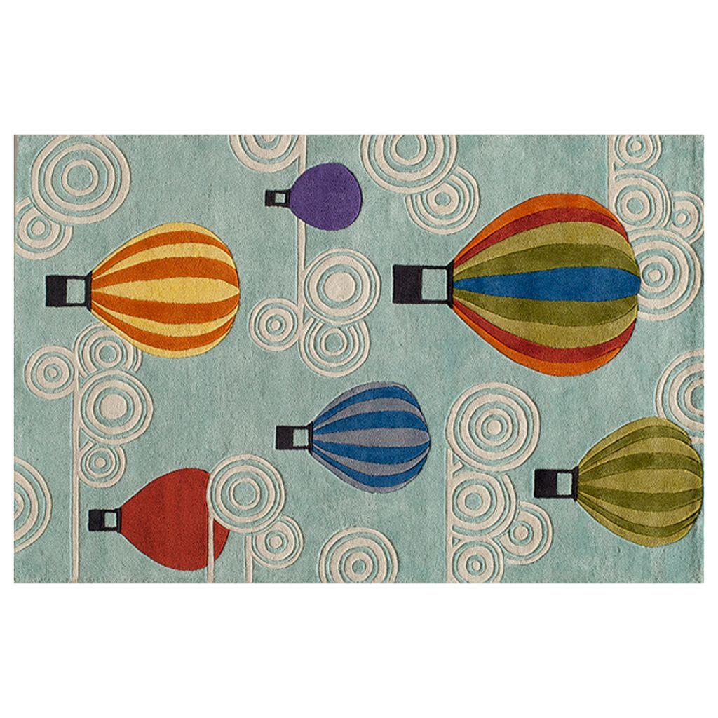 Momeni Lil Mo Whimsy Hot Air Balloon Rug - 3' x 5'