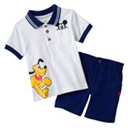 Disney Mickey Mouse and Friends Polo and Shorts Set - Baby