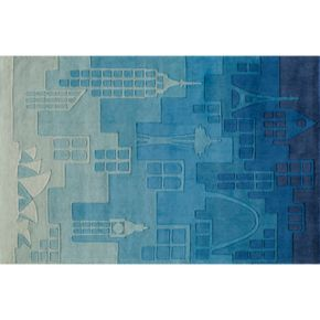 Momeni Lil Mo Whimsy Cityscape Rug - 3' x 5'