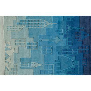 Momeni Lil Mo Whimsy Cityscape Rug - 4' x 6'