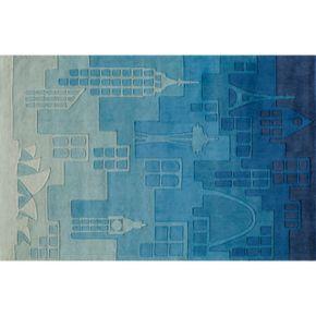 Momeni Lil Mo Whimsy Cityscape Rug - 5' x 7'