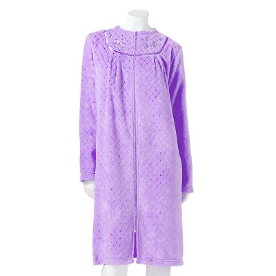Croft and Barrow Geometric Plush Long Duster Robe