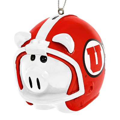 Utah Utes Piggy Bank Ornament