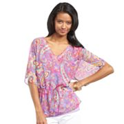 Chaps Paisley Tunic and Camisole Set - Petite