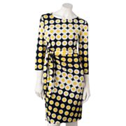 Jessica Howard Dot Pintuck Dress