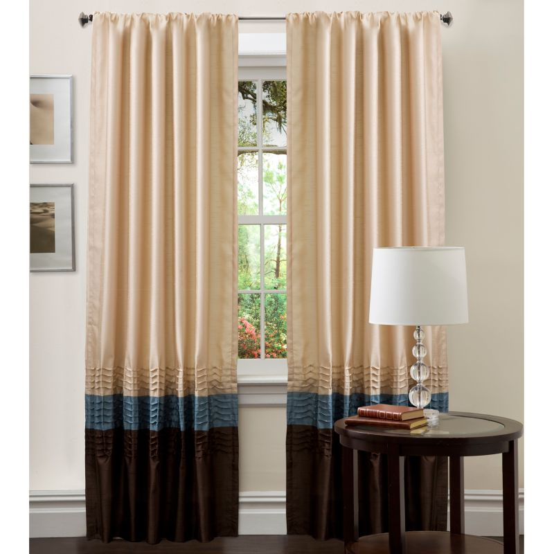 "Lush Decor 2-pack Mia Window Curtains - 54"" x 84"", Blue"
