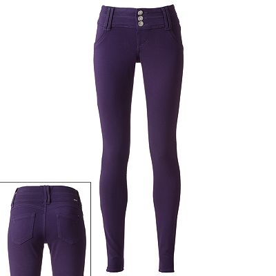 Rewind Ponte Skinny Pants - Juniors