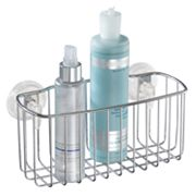 interDesign PowerLock Suction Reo Rectangular Basket